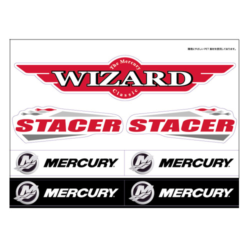 ステッカーシート WIZARD/STACER/MERCURY 67-811703J14